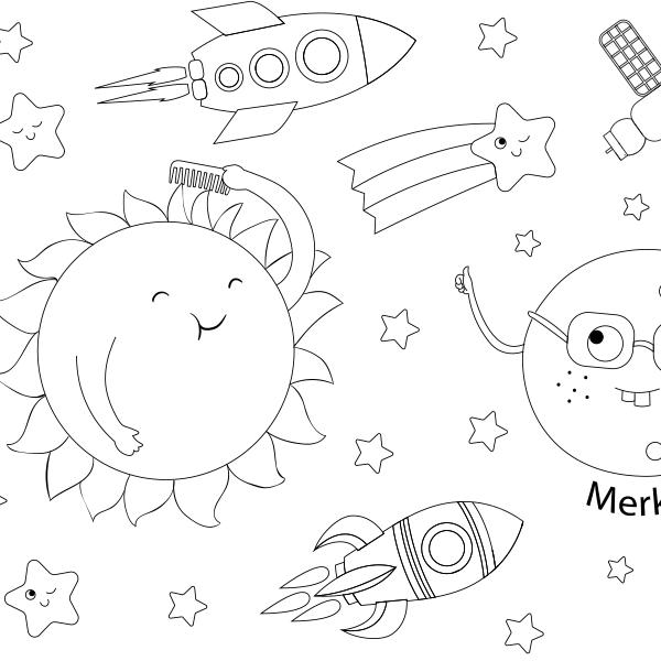 Gezegenleri Tanıyalım Boyama Kağıdı Proll Dev Boyama Kağıtları