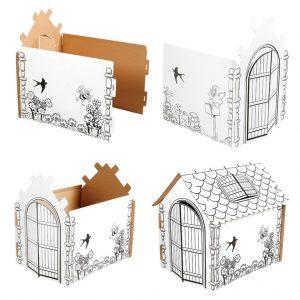 Boyanabilir Karton Ev