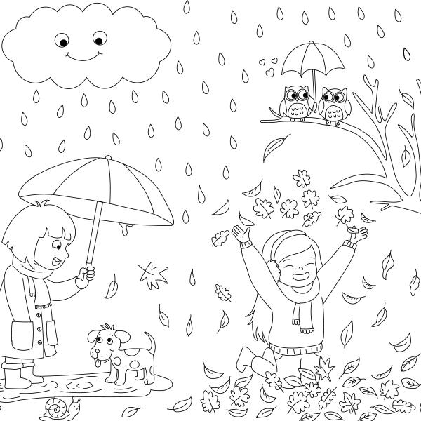 Mevsimleri Tanıyalım Boyama Kağıdı Proll Boyama Kağıtları