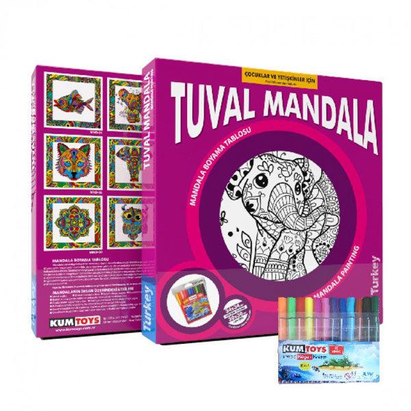 Mandala Tuval Boyama Proll Dev Boyama Kagitlari