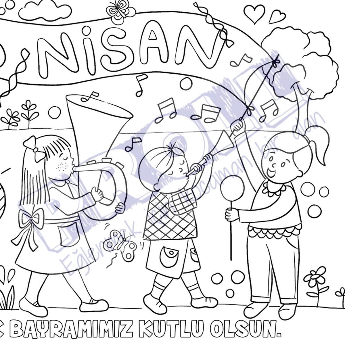 2 Prolllü 23 Nisan Sınıf Kampanyası Proll Boyama Kağıtları