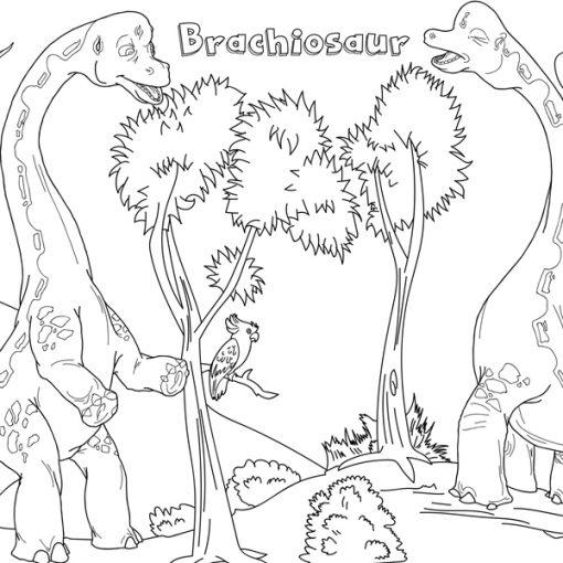 dinozorlar boayama kağıdı 3
